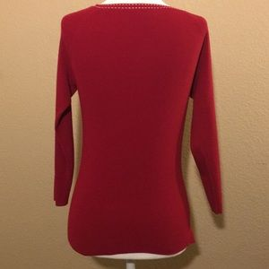Ann Taylor Loft red sweater size XS. Pre-owned.